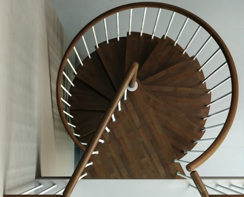 Chiocciola con gradini in legno (2)