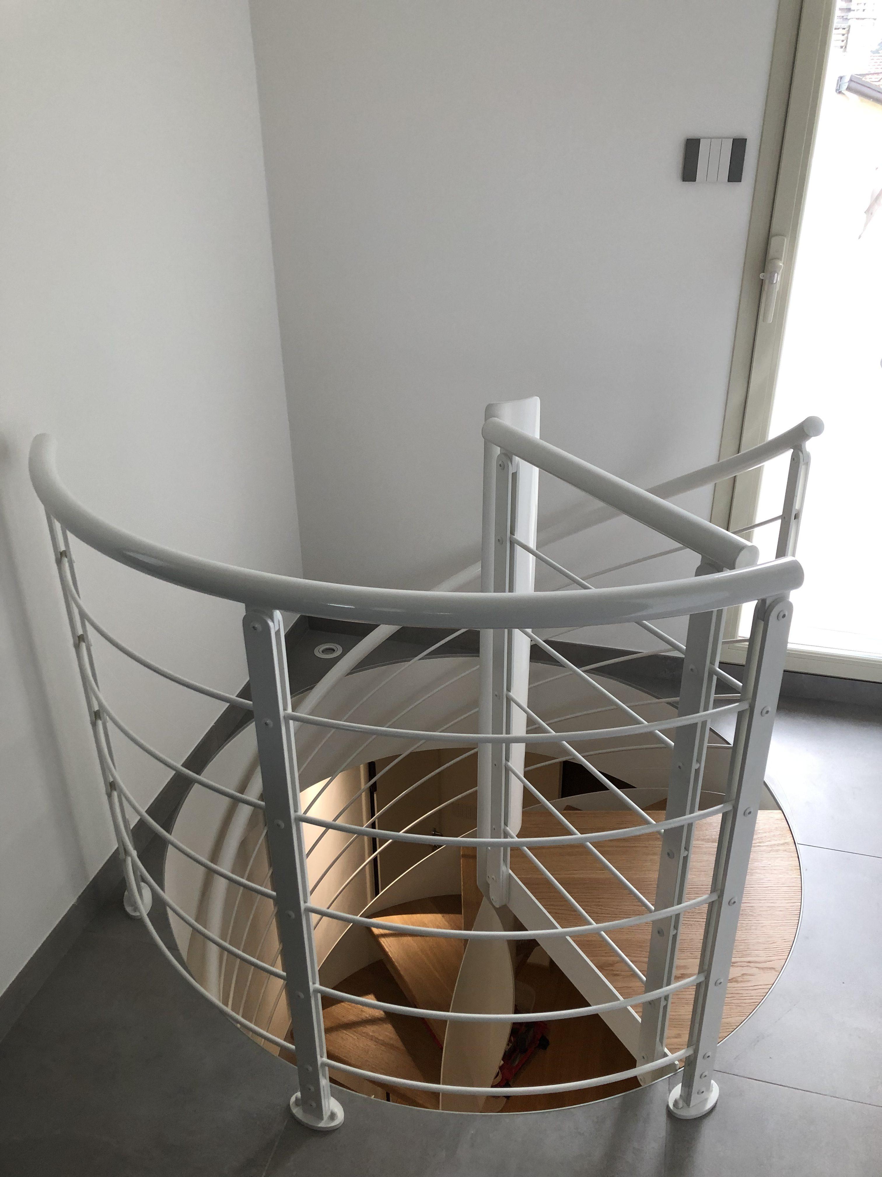 Balaustra su scala elicoidale